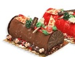 Christmas Log Raspberry Satin